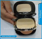 Double color dry and wet pressed powder(Compact foundation)/face powder with mirror
