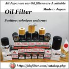 Various types of high quality car oil filter made in Japan
