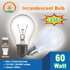 PS55 25W 40W 60W 75W 100W Clear and Frosted incandescent bulb