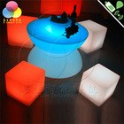 40cm plastic glow led Cube set with lighting for bar furniture