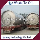 the smallest 5 tons capacity high oil output used tyre pyrolysis oil machine
