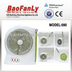 rechargeable fan with LED emergency light