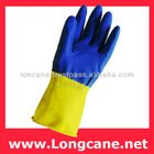 Bi-Colour Rubber Hand Gloves / Rubber Work Gloves Malaysia