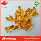 Health Canada GMP Certified Fish oil Omega 3 1000mg softgel capsule