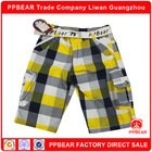 PPbear new chinos check cargo pants for boys stocklot