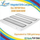 Recessed 36W Grill led panel light with CE ROHS