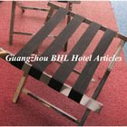Guangzhou BHL Hotel Articles Stainless Steel hotel luggage rack folding suitcase stand stainless luggage holders J12B