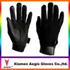Stretch fabric quality horse riding gloves,leather horse riding gloves