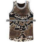 Basketball jersey with Printed