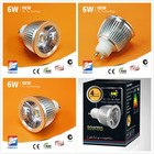 Driverless 6w GU10 E27 dimmable Samsung cob led spot light