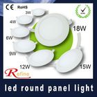 led panel light 3w 4w 6w 9w 12w 15w 18w varisized round led panel light