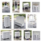 wooden european style wash white bedroom furniture nightstand/bedside table/vanity set/dresser