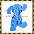 130g polyester cheap work safety coverall, light blue coverall