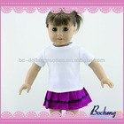 18 inch American girl doll toy clothes wholesale, T-shirt & short skirt